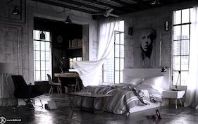 Industrial Bedroom design