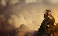 Photo Manipulation | Riding Horse In The Cloud