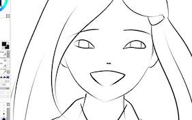 Anime girl sketch