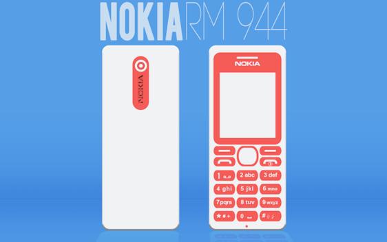 Nokia RM944 Flat Design