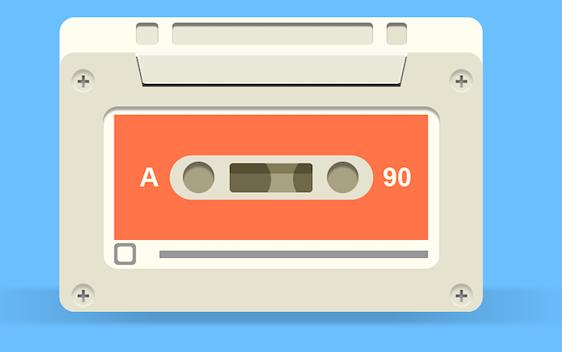 Cassette Tape Flat Design