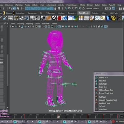 3d Maya characters