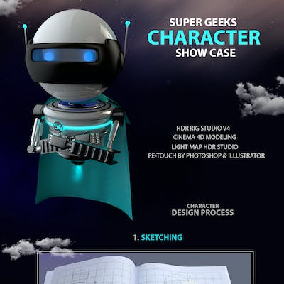 Super Geeks 3D Character Showcase
