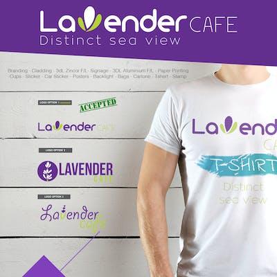 تصميم | هوية كامله لمطعم لافيندر