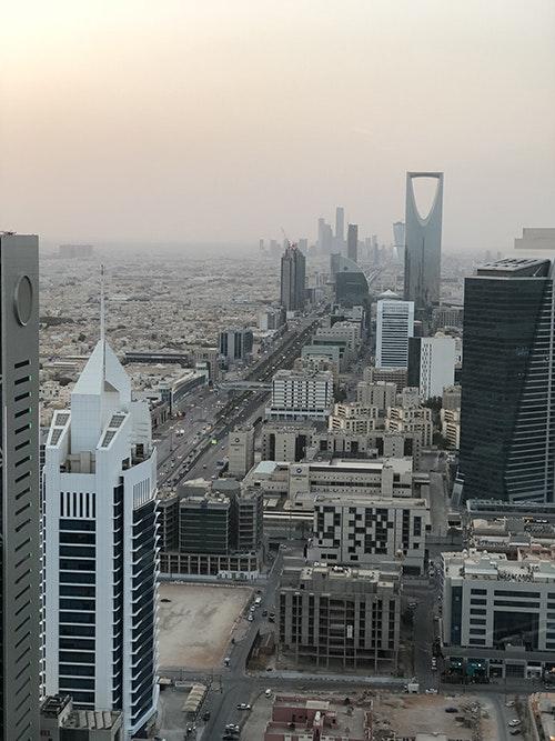 صورة لمدينة الرياض وبرج المملكة