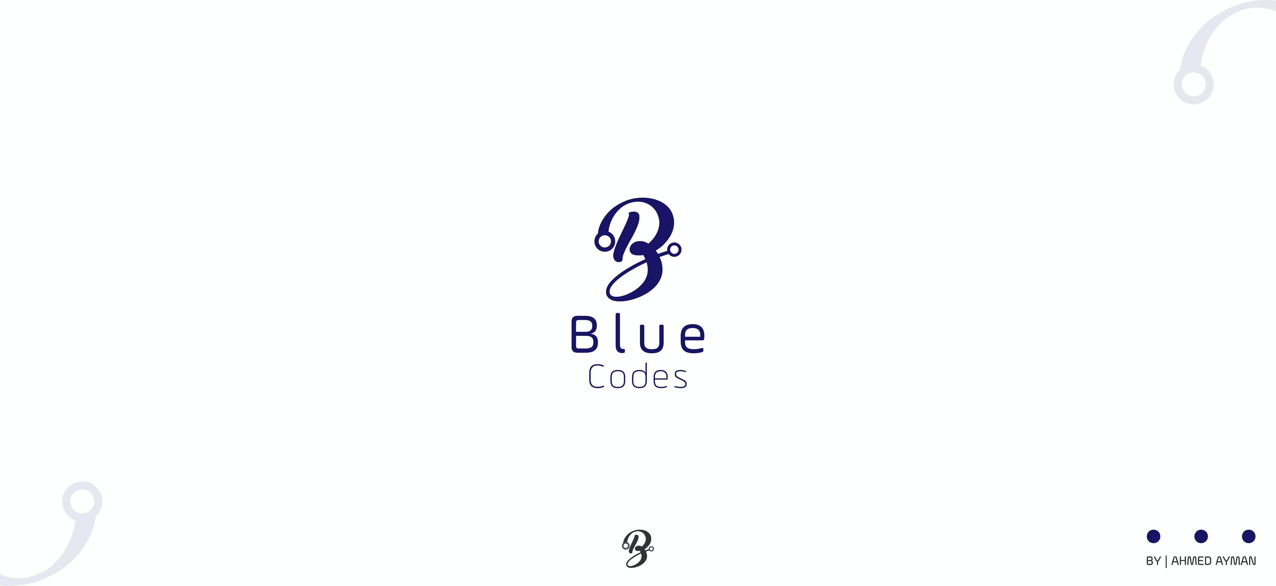 لوجو شركة - BLUE CODE - الخاصة بالتصميم