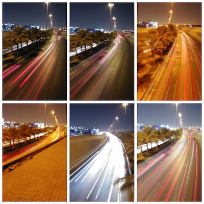 Slow shutter in the streets of Riyadh