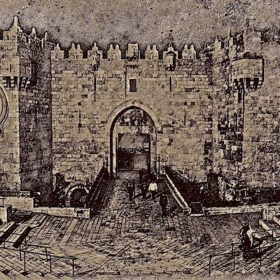 باب العامود، القدس، فن رقمي