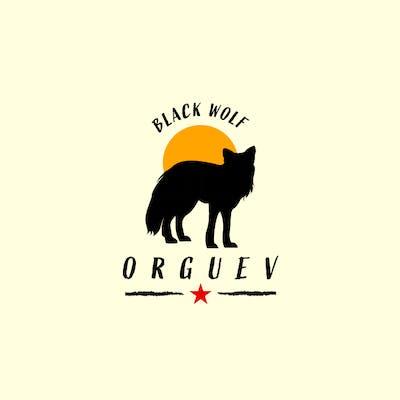 شعار الذئب الأسود silhouette logo