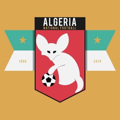 شعار منتخب الجزائري Minimalist design